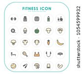 fitness icons  | Shutterstock .eps vector #1054599932