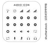 audio icons  | Shutterstock .eps vector #1054599998