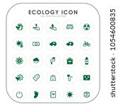 ecology icons  | Shutterstock .eps vector #1054600835