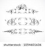 vintage borders  frame. wicker... | Shutterstock .eps vector #1054601636