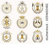 set of vector vintage emblems...   Shutterstock .eps vector #1054602482
