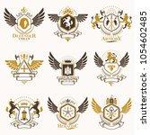 vector vintage heraldic coat of ... | Shutterstock .eps vector #1054602485