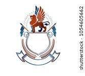 graphic emblem composed with... | Shutterstock .eps vector #1054605662