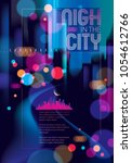 night city traveling tourist... | Shutterstock .eps vector #1054612766