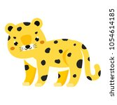 cute leopard. cartoon african... | Shutterstock .eps vector #1054614185