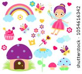 fairy set. collection of... | Shutterstock .eps vector #1054616342