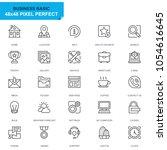 simple set basic line icons for ... | Shutterstock .eps vector #1054616645