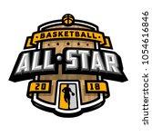 all stars of basketball  logo ... | Shutterstock .eps vector #1054616846