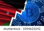 the flag of jordan against the... | Shutterstock . vector #1054623242