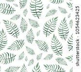 watercolor illustration green... | Shutterstock . vector #1054623425