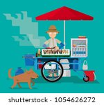 vector illustration of a street ... | Shutterstock .eps vector #1054626272