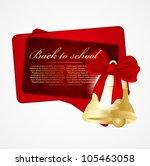 illustration with maple leaves | Shutterstock .eps vector #105463058
