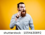 close up portrait of cheerful... | Shutterstock . vector #1054630892