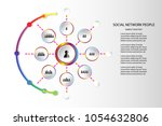 people network icon concept... | Shutterstock .eps vector #1054632806