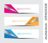 abstract design banner web... | Shutterstock .eps vector #1054633328