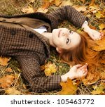 Portrait Of Red Haired Girl In...
