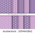 seamless pattern set in arabic... | Shutterstock .eps vector #1054642862