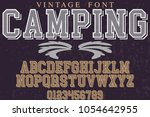 font alphabet typeface vector... | Shutterstock .eps vector #1054642955