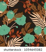 abstract elegance pattern with... | Shutterstock .eps vector #1054645382