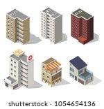 big set low poly vectors of...   Shutterstock .eps vector #1054654136