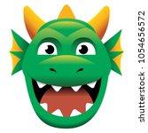 Vector Cartoon Dragon Isolated...