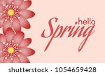 spring flowers background in... | Shutterstock .eps vector #1054659428