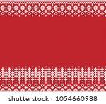 jacquard fairisle seamless... | Shutterstock .eps vector #1054660988