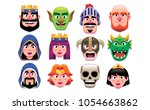 vector set of fantasy... | Shutterstock .eps vector #1054663862