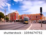 nice  france busy traffic of... | Shutterstock . vector #1054674752