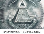 conspiracy theory concept. all... | Shutterstock . vector #1054675382