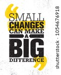 small changes can make a big... | Shutterstock .eps vector #1054676918