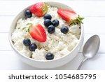 tvorog  farmers cheese  curd... | Shutterstock . vector #1054685795