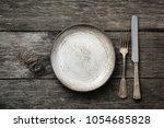 table setting with vintage... | Shutterstock . vector #1054685828