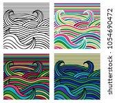 vector hand drawn decorative... | Shutterstock .eps vector #1054690472