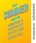 summer font modern typography... | Shutterstock .eps vector #1054696592