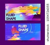 fluid color background. liquid... | Shutterstock .eps vector #1054726055
