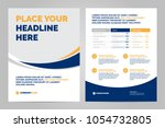 brochure layout template  cover ... | Shutterstock .eps vector #1054732805