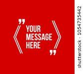 innovative vector quotation... | Shutterstock .eps vector #1054735442