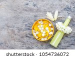 scented water decorated with... | Shutterstock . vector #1054736072