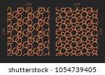 laser cutting set. woodcut... | Shutterstock .eps vector #1054739405
