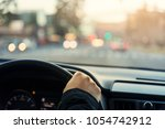 driving a car view on the road  | Shutterstock . vector #1054742912