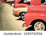 classic cars vintage color | Shutterstock . vector #1054742936