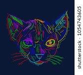 cat art draw | Shutterstock . vector #1054743605
