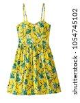 strapless flower pattern summer ... | Shutterstock . vector #1054745102