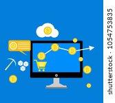 blockchain scheme  mining...   Shutterstock .eps vector #1054753835