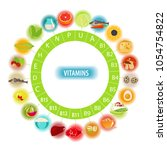 all the vitamins. food... | Shutterstock .eps vector #1054754822