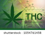 image cannabis of the formula... | Shutterstock . vector #1054761458