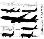 vector illustration of airplane ... | Shutterstock .eps vector #105476762