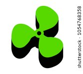 fan sign. vector. green 3d icon ... | Shutterstock .eps vector #1054768358