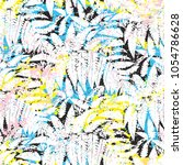 bold abstract jungle print with ... | Shutterstock .eps vector #1054786628